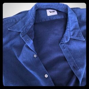 ACNE STUDIOS textured blue shirt. Size 54 Euro